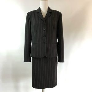 Worthington stretch skirt suit 12 blazer 14 skirt